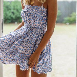 Little Leopard Printed Hippie Dress