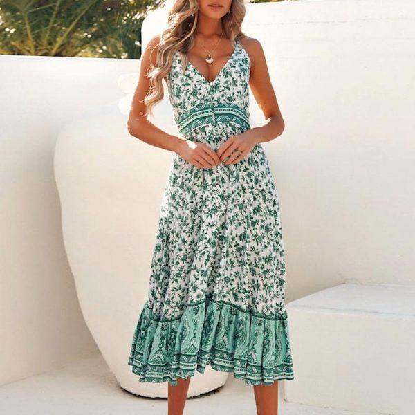 Bohemian Chic Long Summer Dress