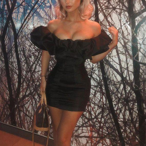 Sexy Bohemian Off Shoulder Dress