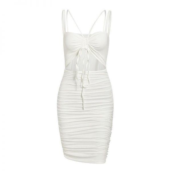 Sexy Bohemian White Short Dress