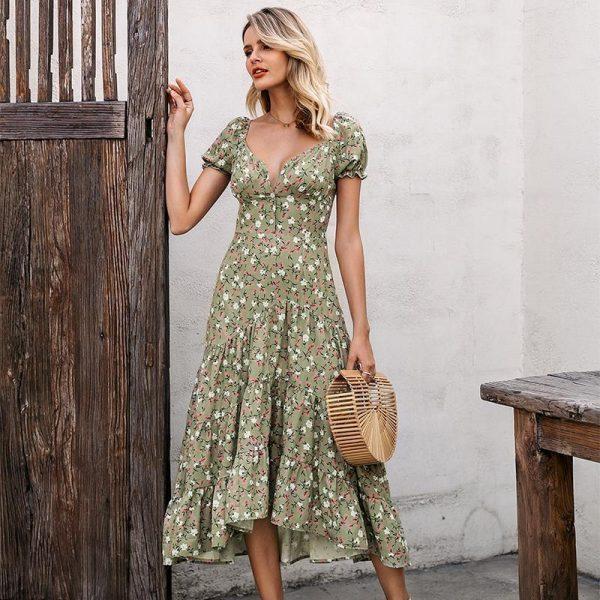 Bohemian Flowery Dress