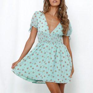 Bohemian flowery short dress