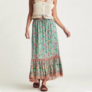 Bohemian gypsy long skirt