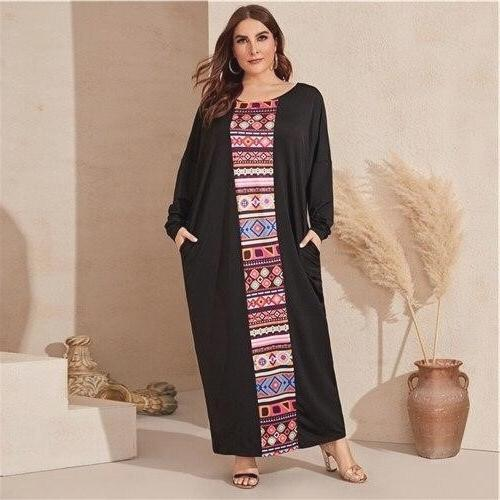 Dress hippie chic large size