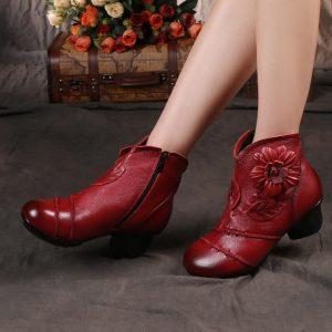 Vintage Boho Low Heel Boots