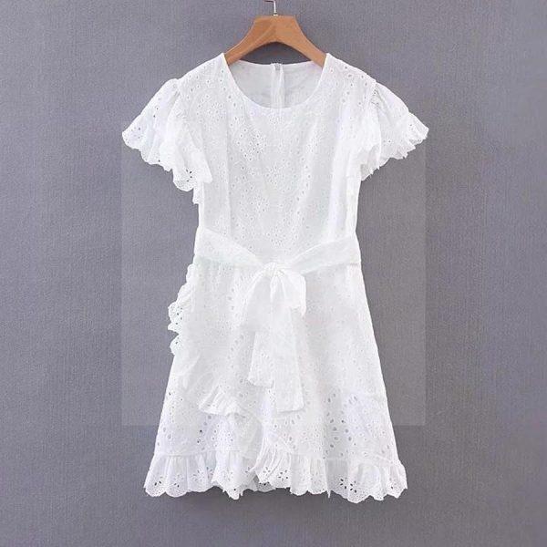 White bohemian cotton dress