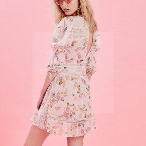 Dress boheme short lace