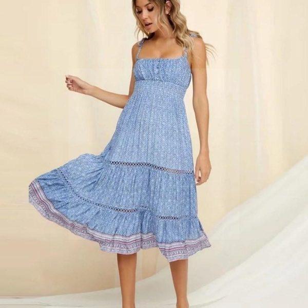 Bohemian evening dress