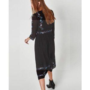 Bohemian chic long cocktail dress