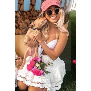 White hippie chic lace dress