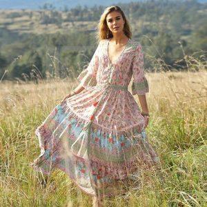 Dress boheme year 70